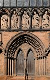 Cathedral door, Lichfield. Stock Photo
