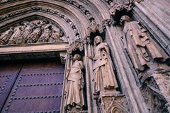Cathedral doors Stock Image