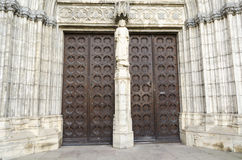 Cathedral doorway Stock Image