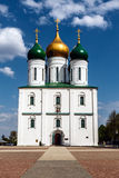 The Cathedral of the Dormition, Kolomna. Founded in 1379 by trhe great Prince Dimitry Donskoy after the first victory of Russian troops over the Golden Horde in royalty free stock photo