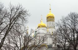 The Cathedral of the Dormition is the largest church in the Moscow Kremlin. Russia stock images
