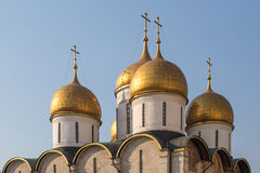 The Cathedral of the Dormition in Moscow kremlin Royalty Free Stock Images