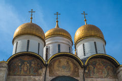 The Cathedral of the Dormition in Moscow Kremlin, Russia Royalty Free Stock Images