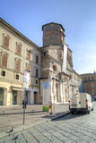 Cathedral Dormition of the Mother of God in the city of Reggio E Royalty Free Stock Photo