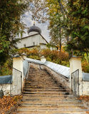 Cathedral of the Dormition in Svyatogorsk monastery Stock Image
