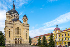 Cathedral of Dormition Theotokos in Cluj - Napoca ,Romania Stock Photos