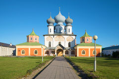 Cathedral of the Dormition of the Theotokos. Tikhvin Uspensky monastery, Russia Royalty Free Stock Images