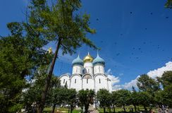 Cathedral of the Dormition in Trinity Lavra of St. Sergius in Sergiev Posad, Russia. Royalty Free Stock Photos