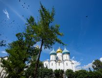 Cathedral of the Dormition in Trinity Lavra of St. Sergius in Sergiev Posad, Moscow region, Russia. Royalty Free Stock Photo