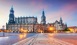 Cathedral in Dresden; Germany, Europe Royalty Free Stock Image