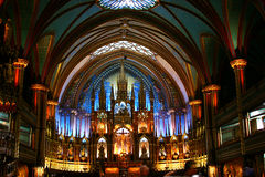 Cathedral du Notre Dame. The altar inside the stunning Cathedral du Notre Dame in Montreal, Quebec, Canada Stock Photography