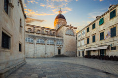 Cathedral in Dubrovnik. Croatia. Stock Image