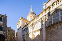 Cathedral in Dubrovnik. Croatia. Royalty Free Stock Photography