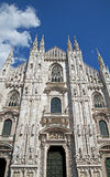 Cathedral: Duomo Di Milano. A view of the main facade of the Duomo Di Milano Cathedral in Milan, Italy Stock Photo