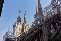 Cathedral Duomo di Milano in Italy. royalty free stock photo