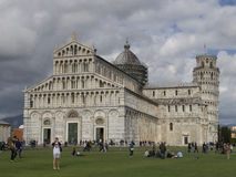 Cathedral Duomo di Pisa with the Leaning Tower of Pisa Torre di Pisa on Piazza dei Miracoli in Pisa Stock Photography