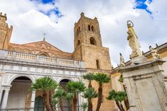 Cathedral Duomo of Monreale, extent examples of Norman architecture, Sicily stock images