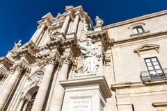 The Cathedral (Duomo) of Ortigia Stock Photo
