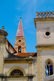 Cathedral Duomo of Saints James and Christopher Corfu Greece. Bell tower of the Catholic Cathedral Duomo of Saints James and Christopher is the more formal Royalty Free Stock Photography