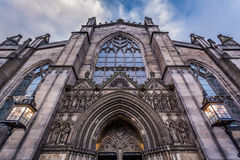 Cathedral in Edinburgh on a sky background Stock Photography