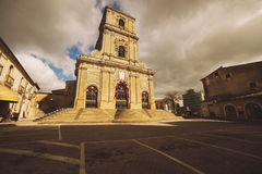 Cathedral of Enna in Sicily. The Cathedral of Enna dedicated to Our Lady of the Visitation is the mother church of the city as well as a national monument and Stock Image