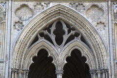 Cathedral Entrance in Ely, Cambridgeshire Stock Image