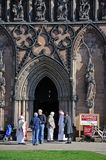 Cathedral entrance, Lichfield, England. Royalty Free Stock Image