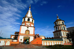 Cathedral of the Epiphany in Irkutsk Royalty Free Stock Photos