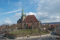 Cathedral of Erfurt in  Germany Stock Photography