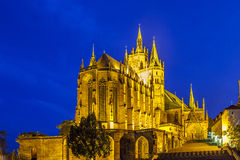 Cathedral of Erfurt in Thuringia in the evening Royalty Free Stock Images