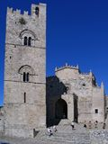 Cathedral of Erice. In Sicily royalty free stock image