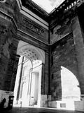 Cathedral. Of Esztergom in black and white stock image