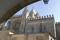 Cathedral in Evora, Portugal royalty free stock photography