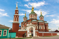Cathedral Of The Exaltation Of The Holy Cross. The Dormition of the Brusensky monastery Kolomna Kremlin royalty free stock photography
