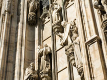 Cathedral exterior, Milan Royalty Free Stock Photo