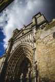Cathedral facace, Tourism, Toledo, most famous city in spain Royalty Free Stock Images