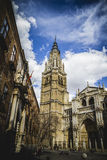 Cathedral facace, Tourism, Toledo, most famous city in spain Royalty Free Stock Image