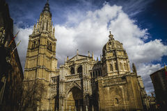Cathedral facace, Tourism, Toledo, most famous city in spain Royalty Free Stock Photography