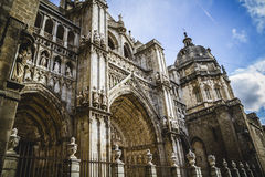 Cathedral facace, Tourism, Toledo, most famous city in spain Royalty Free Stock Photos