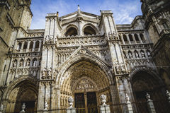Cathedral facace, Tourism, Toledo, most famous city in spain Stock Photo