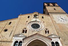 Cathedral facade, Lodi Stock Image