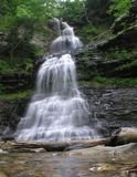 Cathedral Falls, Gauley Bridge WV #14. July 2006 - Early morning photograph of this stunning waterfall in south/central West Virgina. This gem of a waterfall Royalty Free Stock Photo