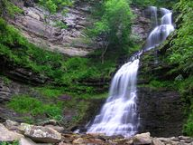 Cathedral Falls, Gauley Bridge WV #3. July 2006 - Early morning photograph of this stunning waterfall in south/central West Virgina. This gem of a waterfall Royalty Free Stock Photography