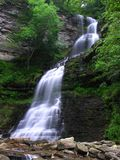 Cathedral Falls, Gauley Bridge WV #4. July 2006 - Early morning photograph of this stunning waterfall in south/central West Virgina. This gem of a waterfall Royalty Free Stock Images