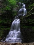 Cathedral Falls, Gauley Bridge WV #6. July 2006 - Early morning photograph of this stunning waterfall in south/central West Virgina. This gem of a waterfall Stock Photography