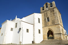 The Cathedral of Faro (Se de Faro) is a Roman Catholic cathedral in Faro, Portugal. Royalty Free Stock Image