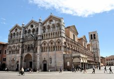Cathedral of Ferrara Royalty Free Stock Photo