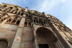 Cathedral in Ferrara city, Italy Royalty Free Stock Image