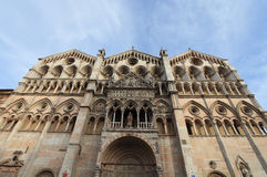 Cathedral in Ferrara city, Italy Stock Photography