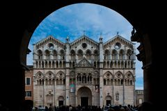 The Cathedral of Ferrara Royalty Free Stock Images